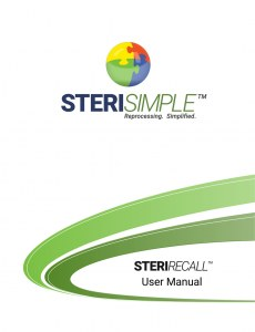 steriRecall user manual cover