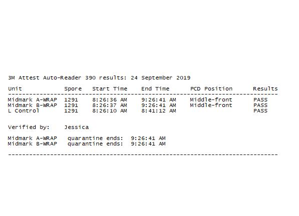 SteriSpore automated spore test software