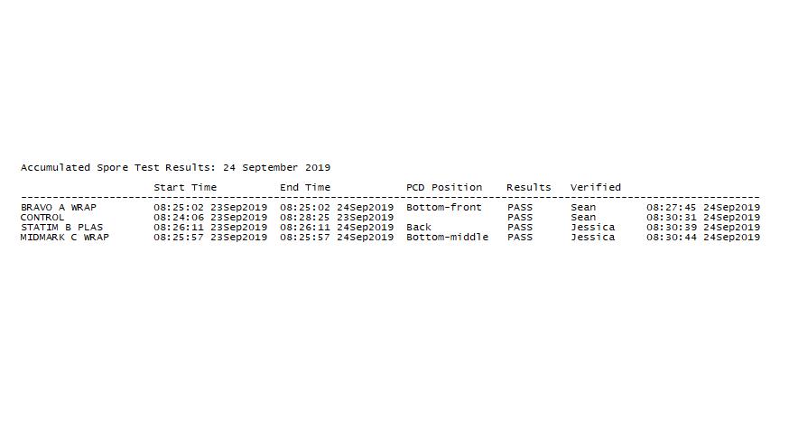 SteriSpore24 spore test software